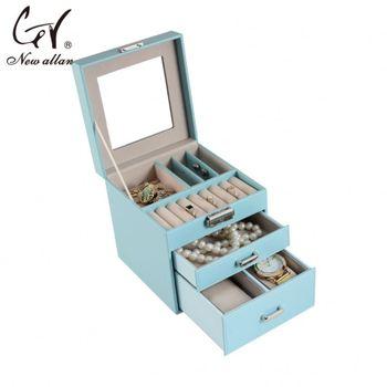 Best Quality Pierced Earring Jewelry Box Black Velvet Ring