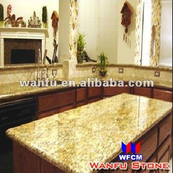 Modular Kitchen Golden Yellow Granite Countertop Designs For USA Style
