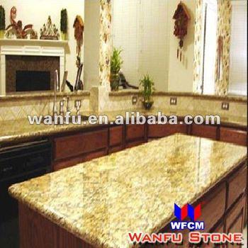 Modular Kitchen Golden Yellow Granite Countertop Designs For Usa