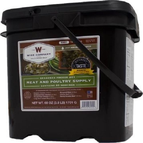 Wise Company Emergency Freeze Dried Meat - 60 Servings