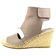 2016 new design summer women sandals high heel wedges ankle boots peep toe casual wedge heel lady espadrilles