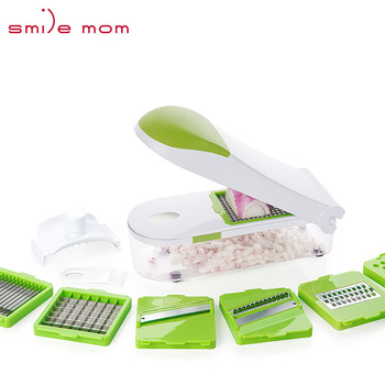 Smile mom Plastic 2019 Multifunction Quick Onion Mandoline Vegetable Food Slicer Dicer Chopper Fruit Cutter