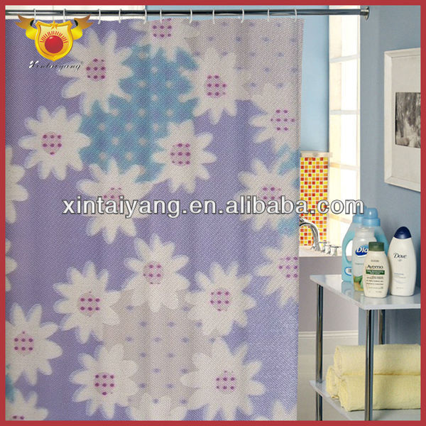 Little Flower Factory Pattern Satin Bathroom Voile Curtain Fabric