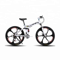 Model 1421 Six knife one round 21 speed newly hot sales 26 inch folding mountain bike