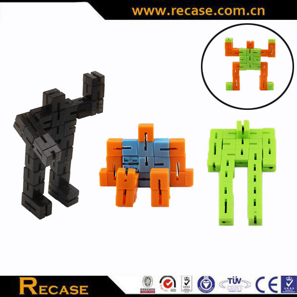 Transforming plastic connect robot cube twisting game