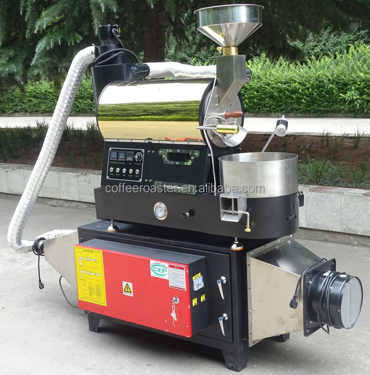 Dongyi BY-1kg coffee roaster with filter Artisan software coffee roasting equipment