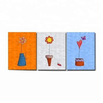 Dessin Animé Personnalisé Art Mural Peinture Au Diamant Triptyque Pour Décor à La Maison Buy Art Mural Personnalisé Ensembles De Peinture Au