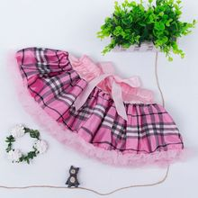 Factory Sale Attractive Style Directly Sale Children Pretty Striped Hot Pink Pettiskirts Tutu