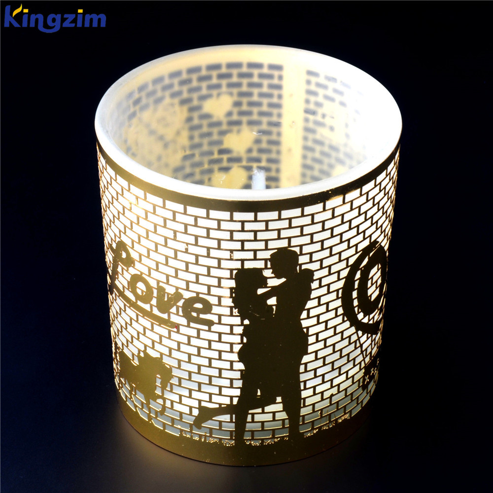 Valentine's Decor Handcrafted metal insert Glass Tealight Holder Candle Stand