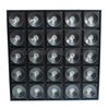dj stage effect lights 5x5 led rgbw led matrix blinder strobe light