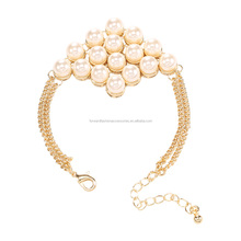 wholesale luxury love pearl string bracelet