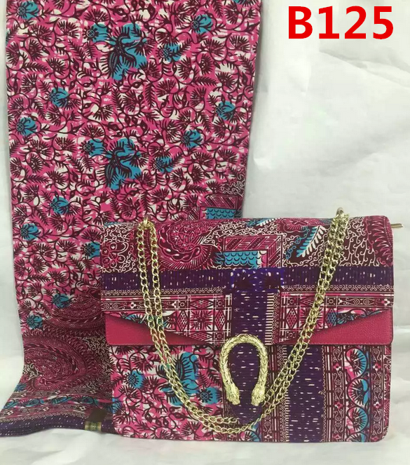High quality african holland print wax fabric matching bags