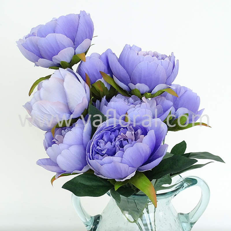 Yafloral Artificial Silk Peony Bouquets for Wedding Table Centerpieces