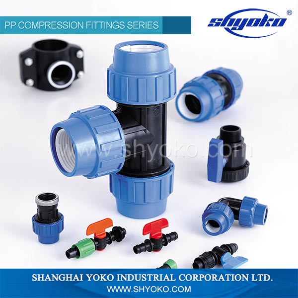 factory supply top quality pp compression fittings plastic tee hdpe pipe fittings