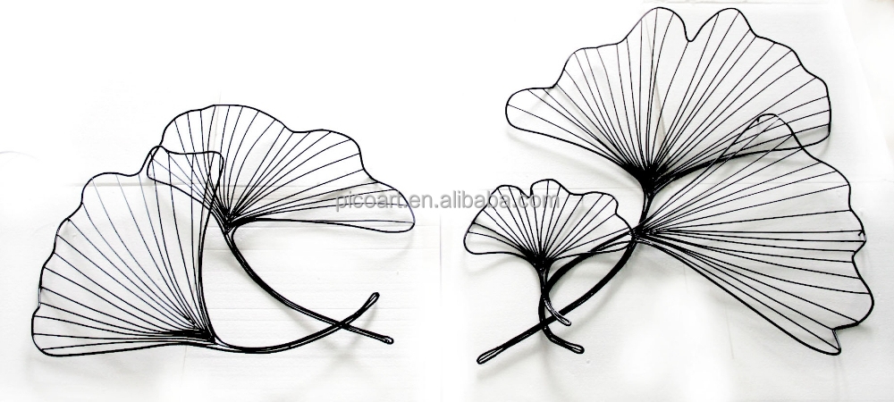 metal leaf wall art roselawnlutheran. Black Bedroom Furniture Sets. Home Design Ideas