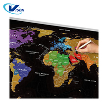 New Arrival Latest Design Scratch Off World Map Poster