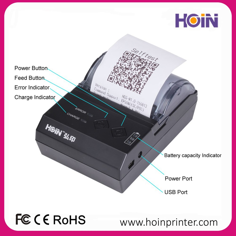 Hot Sale Receipt Printer 58mm Thermal Mini POS Printer For Mobile Printing