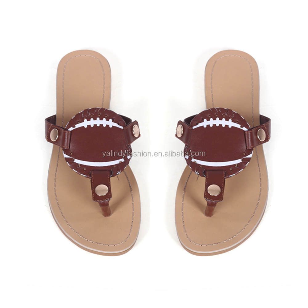 Wholesale Personalized Sandals Custom Fashion Football Slipper