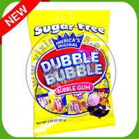 Sugar free bubble gum chicle