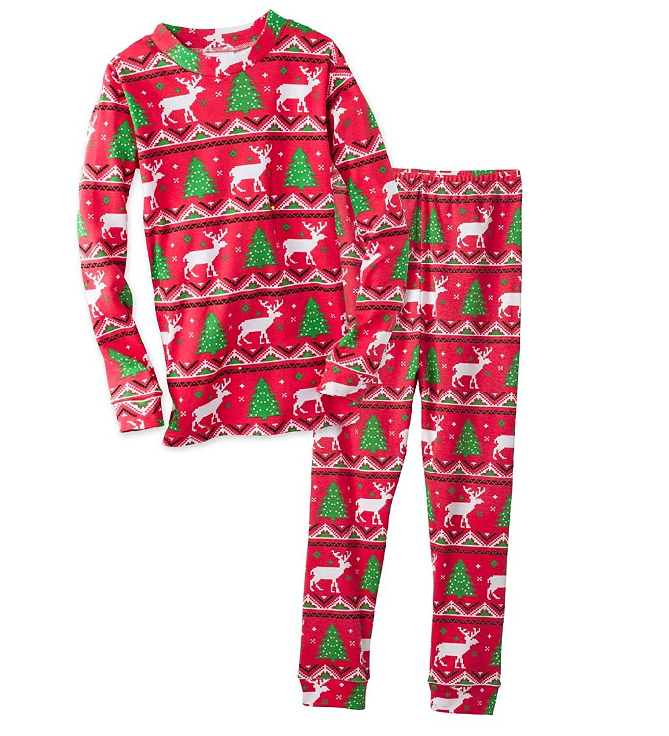 0ff1e48a5e Get Quotations · Unisex Child Christmas Holiday Print Pajamas Set 100%  Cotton Sleepware Boys Girls