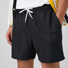 Custom 100%Polyester Drawstring Black Swimming Shorts Men Swimwear
