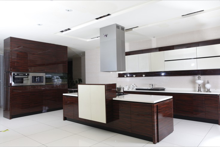 Welbom Lacquer American Modular Ready Made Kitchen Cabinets