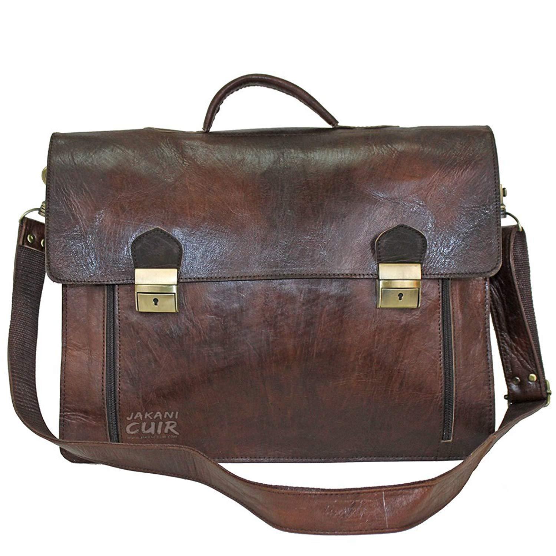 47de59907fa1 Get Quotations · jakani Cuir Vintage Moroccan Leather Satchel - Handmade  Moroccan leather Messenger Bags - Briefcase Laptop Bag