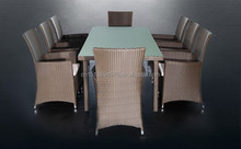 Best Sale Coffee Shop Table & Chairs Rattan Furniture Commercial Use Garden Dinning Table Set