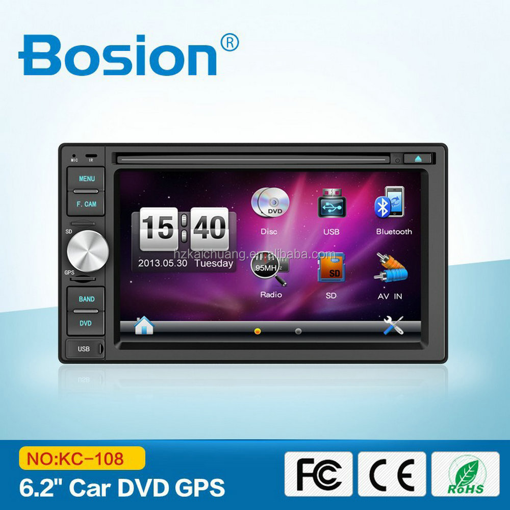 6.2 Inch FM Radio USB SD AUX with GPS and Multimedia Palyback and Rear Camera Input for Universal Car