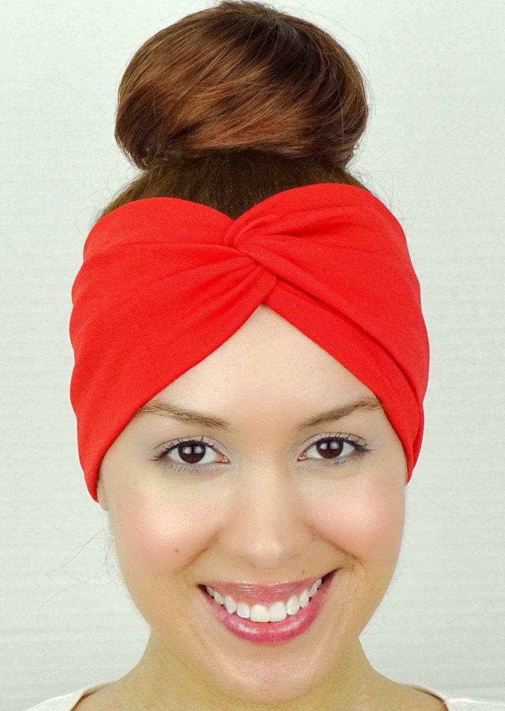 2e4a0c60884e Get Quotations · Red Twist Headband Turban Stretchy Headband Bandana Headband  Yoga Headband Workout Headband Yoga Head Wrap Women