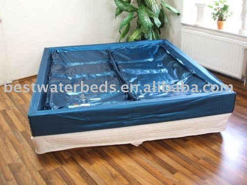 bleu toiles c t doux double lit d 39 eau matelas matelas id. Black Bedroom Furniture Sets. Home Design Ideas