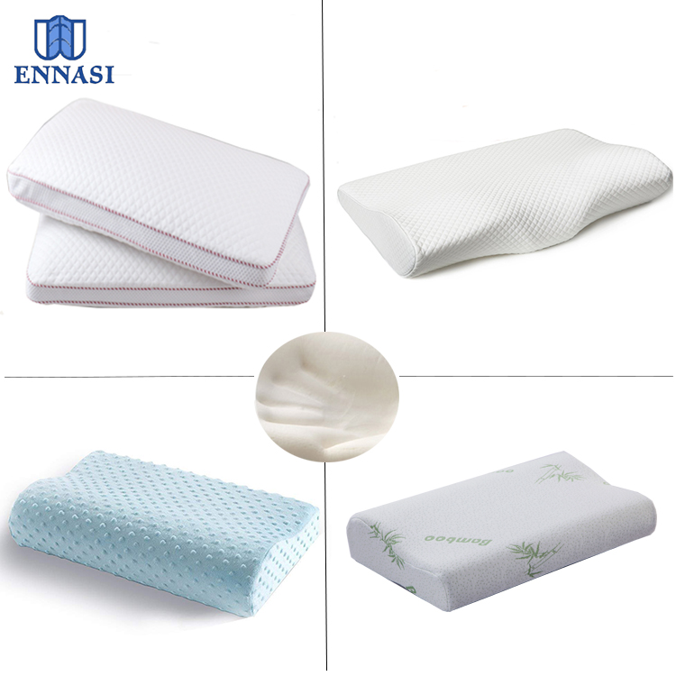 Factory Directly Sale Adjustable Soft King and Queen Size Knitted and Bamboo Cover Memory Foam Bed Sleep Pillow