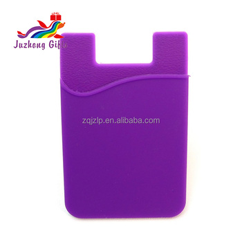 silicone rubber cell phone credit business card holder for cell phone - Cell Phone Business Card Holder
