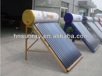 Unpressurized Compact Homemade Passive Solar Water Heater