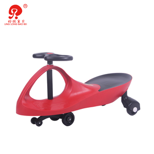 High quality child toy solid pp plastic baby sit slid swing car manpower twist car for sale