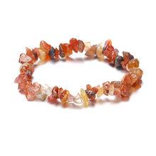 12 цветов, Имитация натурального опала, камень, бусы, браслет для женщин, Кристальный гравий, эластичные подвески, браслеты, ювелирные издели...(Китай)