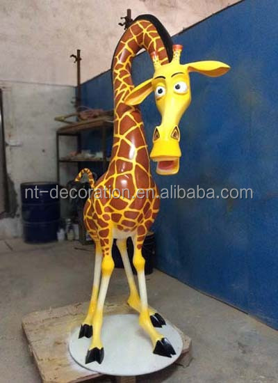 Garden Fiberglass Large Decorative Giraffe Statues For Sale NTRS CS615S