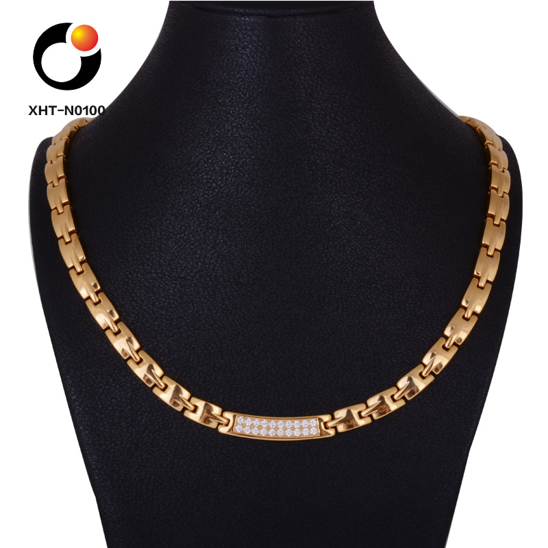 Fashion Rose Gold Plated 316l Titanium Stainless Steel Necklace Jewelry
