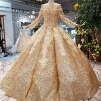 Jancember LS30554 New material glittering painting golden gown prom dress long party dresses golden beaded evening dresses