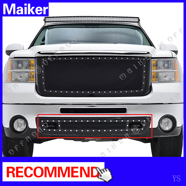 4x4 Front Bumper Grill For 2007 - 2013 GMC Sierra 1500 parts accessories