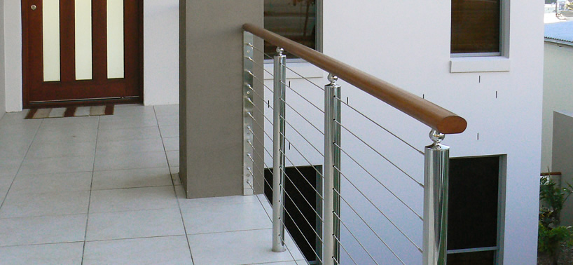 Stainless Steel Terrace Balustrade Cable Railing Design