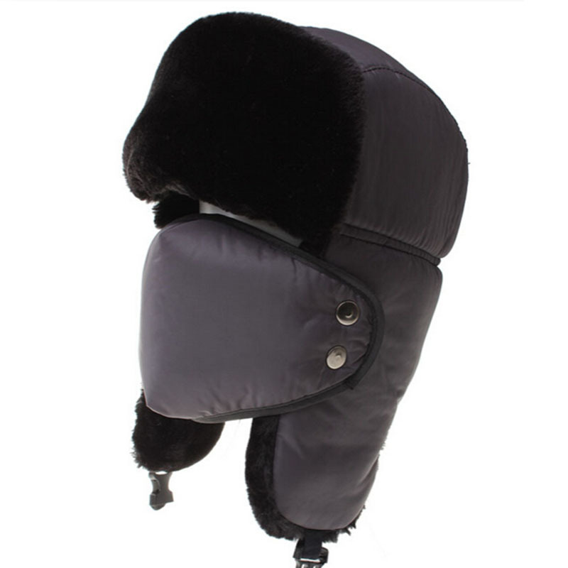 Get Quotations · Winter Russian Hats For Men Unisex Bomber Hats With Mask Warm  Fur Caps With Ear Flaps ed5a279133eb