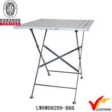 white paint wood slab antique dinning table