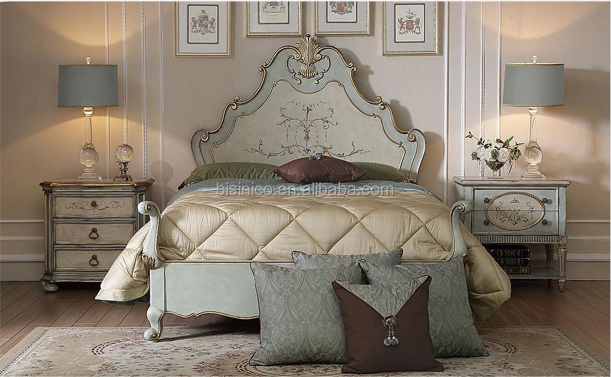 Simple Stylish Bed Room Set,Vintage Wood Carved Bedroom Furniture ...