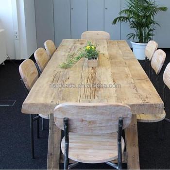 Beau Asian Antique Reclaimed Wood Slab Tables