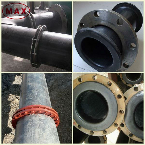 Iso pe hdpe pipes with flange connections for