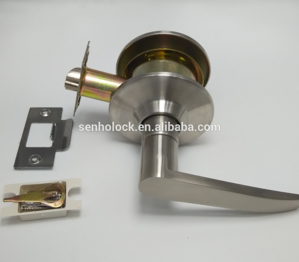 Hotel Connecting Door Lever Lock With Single Sided Handle