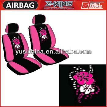 Hawaiian Flower Pink Car Seat Covers