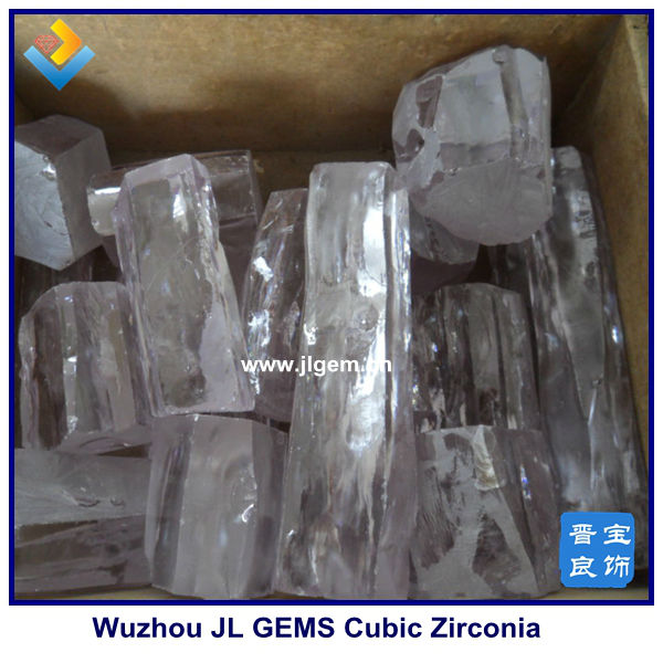AB grade Wuzhou synthetic white cubic zirconia rough manufacturer