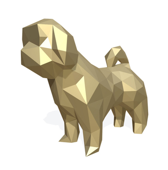 Custom 3d Dog Low Poly Model View 3d Dog Low Poly Model Southwell Product Details From Quanzhou Nan An Southwell Arts Crafts Co Ltd On